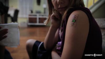 纹在皮肤上的可穿戴设备——国外团队开发了一款生物电子纹身
