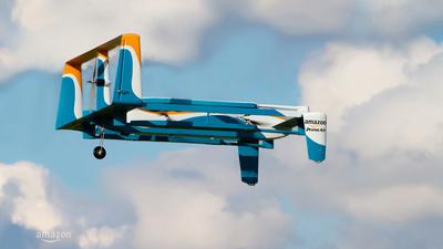 亚马逊无人机送货再刷存在:全新无人机设计,30分钟送达