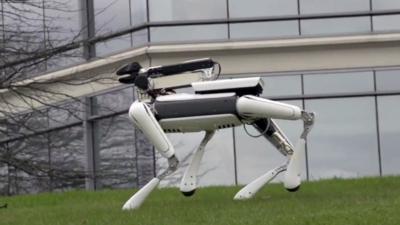 波士顿动力的 SpotMini 机器人,显然比一只哈士奇有用