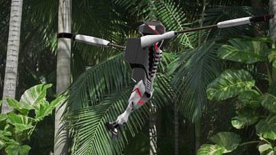 随意穿梭在丛林「黑猩猩」 Roko, 竟是在实施救援任务的仿生机器人!