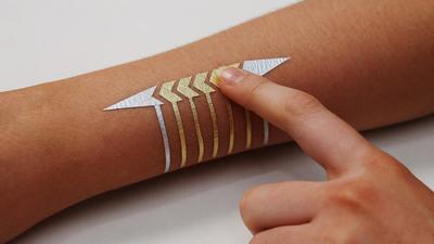 DuoSkin :与其说它是电子纹身,还不如说是镶在皮肤上的智能手机