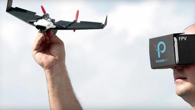 童年的纸飞机,变身 POWERUP FPV 无人机飞回现实  | CES 2017