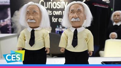 爱因斯坦变身迷你机器人,能「搞怪」还能陪你学知识 | WARE @ CES 2017