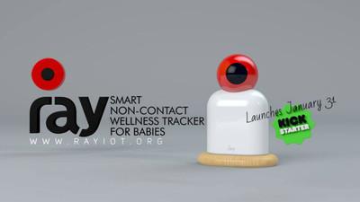 非接触式监测仪 Ray:实时了解婴儿体温等生命体征,看护不再需要寸步不离