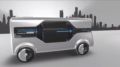 福特 MWC 展示无人驾驶货车+无人机送包裹的概念,说是为了提高城市幸福指数