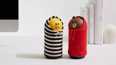 把表情包做成智能音箱,Line 为莎莉鸡和布朗熊找到了一条全新的发家路…