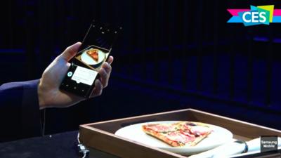 语音、视觉两不误,三星展示 Bixby 拍照识别卡路里功能丨CES 2018