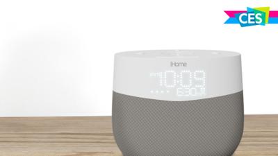砍了一半的 Google Home?iHome 推出一款主打闹钟功能的智能音箱 iGV1丨CES 2018