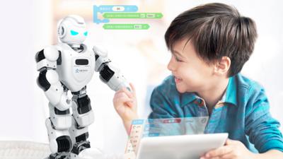 「舞蹈家」 Alpha 跨界做编程老师?优必选和腾讯叮当推出教育机器人 Alpha Ebot