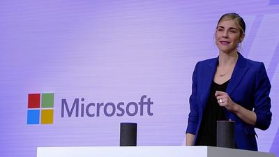 与 Alexa 联姻、主打办公场景,微软在语音竞争中有了新思路 | Build 2018