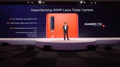 华为 P30 发布会:更上一层楼的相机组合,以及耳机、手表、智能眼镜配件全家桶