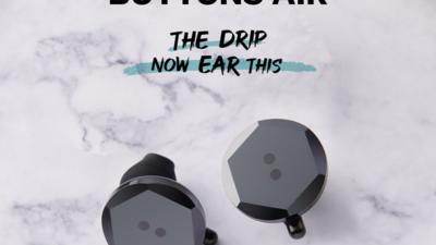 黑眼豆豆首款真无线耳机 BUTTONS Air 发售:高音质+降噪+防水,1998 元
