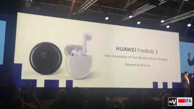 华为发布首款开放式主动降噪耳机 FreeBuds 3,号称各项表现均优于 AirPods 2