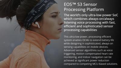 QuickLogic EOS S3 语音和传感器处理平台:始终在线、始终监听、始终感知
