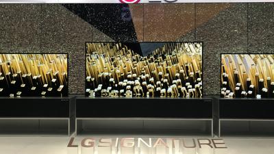 LG 或在 CES 推出全新卷曲式电视,采用投影幕布同款升降方式