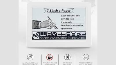 Waveshare 开发 NFC 驱动电力的墨水屏电子书阅读器技术
