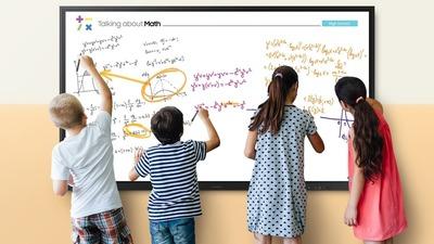 三星的 85 寸交互式显示器带来了更高端的互动教学