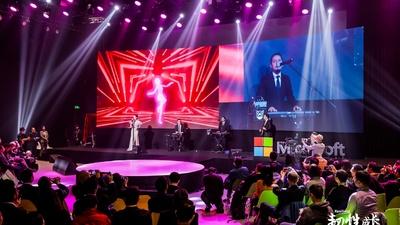 人工智能小冰献唱微软数字化转型峰会,中气充沛,换气自如