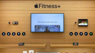 Apple Store 展示了全新的 Apple Fitness+ 和配套健身器材