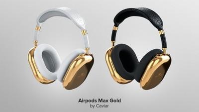 Caviar 推出纯金版的 AirPods Max,富豪特供,人民币 70 万