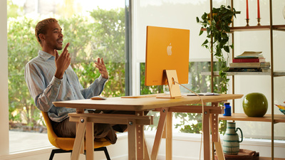 苹果发布多彩 iMac,内置 M1 芯片,首次配备 Touch ID 的键盘