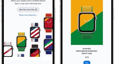 为夏季奥运会而来!苹果推出 22 款限量版表带,代表不同国家/地区