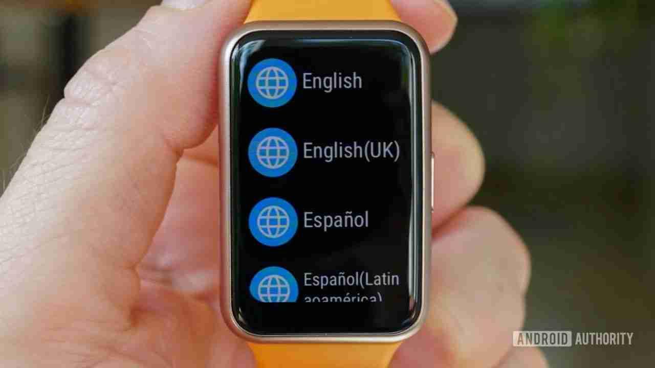 watch fit 语言设置界面
