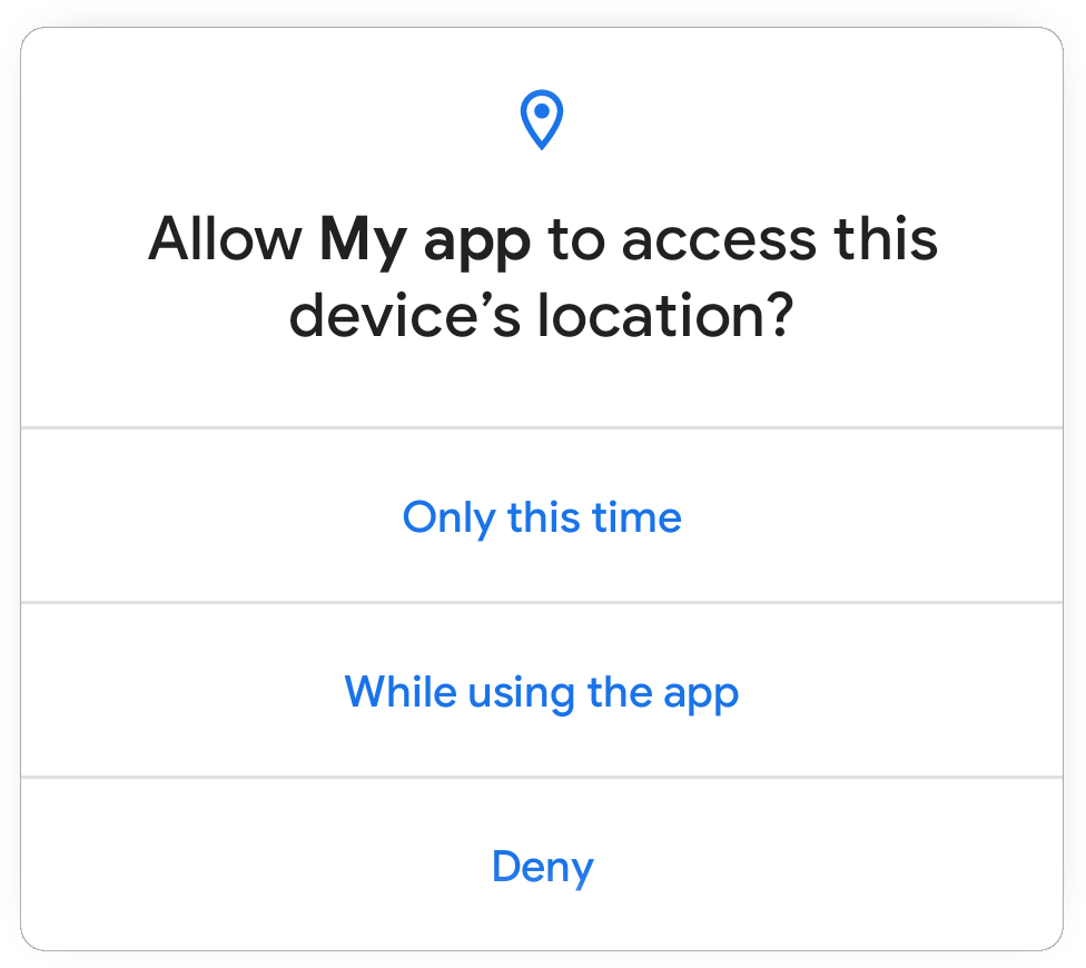 Android 11 单次权限对话框