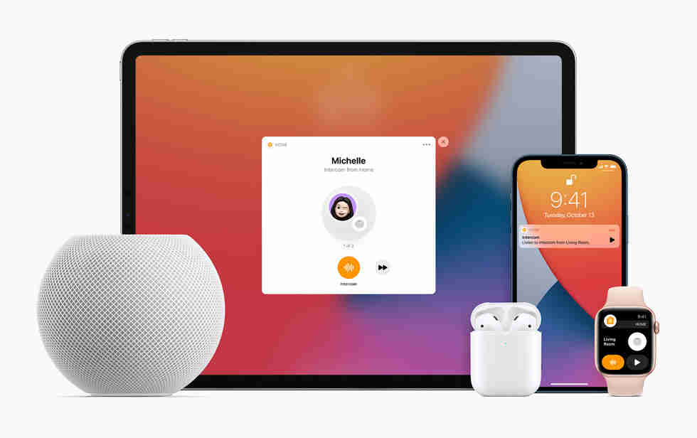 Homepod mini with other Apple products