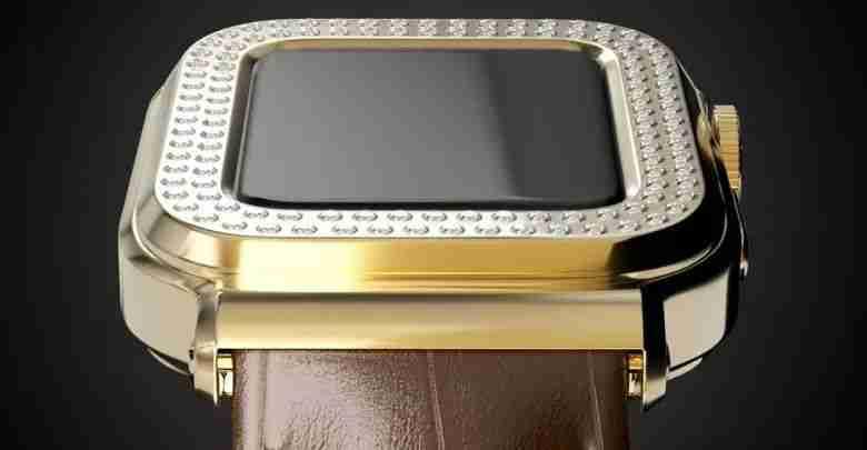 5- Apple Watch Gold Diamond Edition