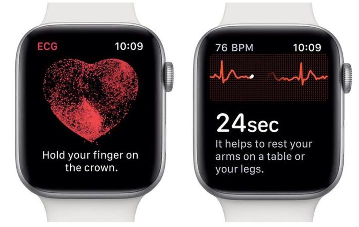 5-Apple Watch Series 4 是美国 FDA 认证的第一款直接面向消费者的通过手腕检测心电图的非处方产品
