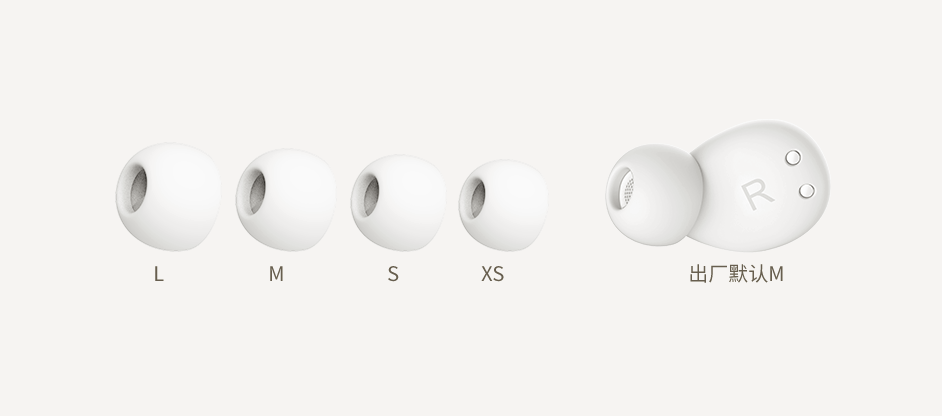 6-ComfoBuds Z 四种尺寸