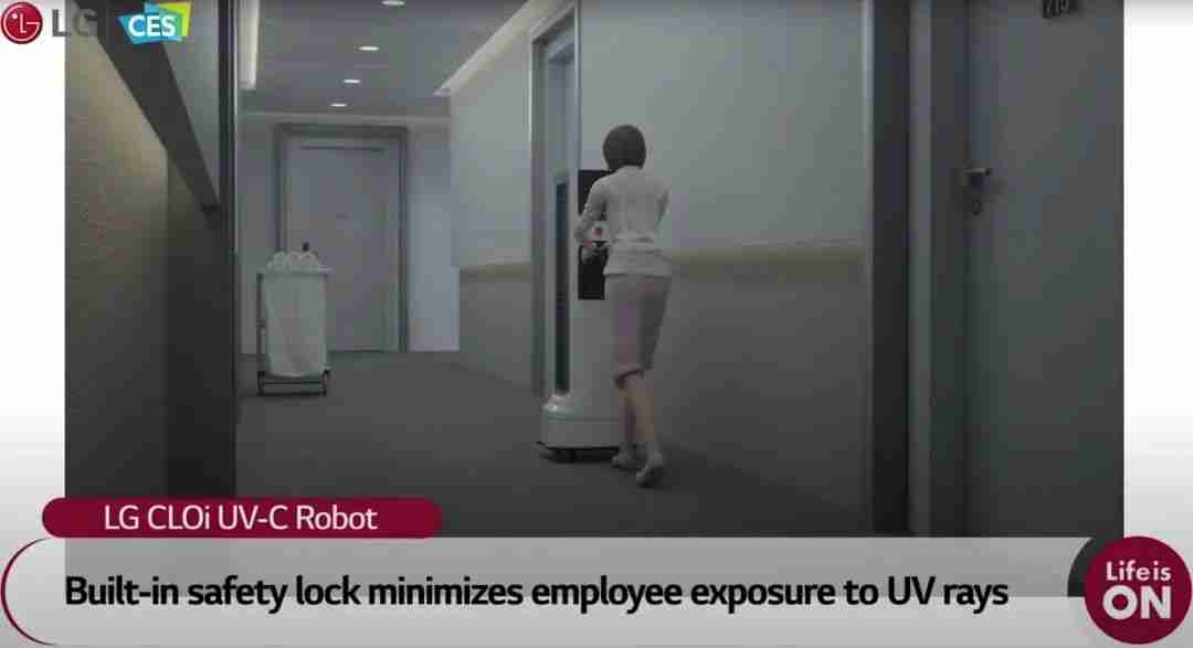 8-LG CLOi 紫外线消毒机器人安全机制
