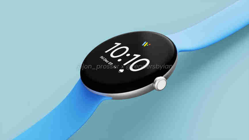Google Pixel Watch-original-blue wrist belt